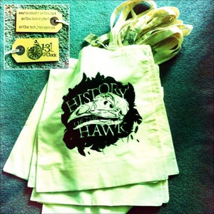 Image of History of the Hawk [Hand Screen Printed] Tote Bag