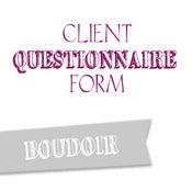 Image of Boudoir Questionnaire Form