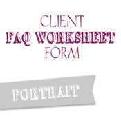 Image of Portrait FAQ Worksheet Form