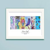 Image of Children's Artwork Display—panel poster w/ 6 works of art