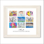 Image of Children's Artwork Display—large poster w/ 9 works of art