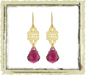 "Jewelry ""Ruby Swarovski"""
