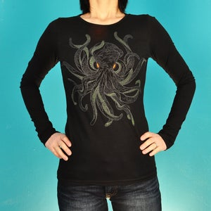 Image of 16 Arm Octopus Long Sleeve T-Shirt