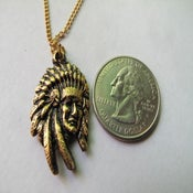 Image of vintage indian head necklace