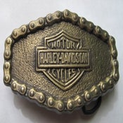 Image of Harley Davidson chain belt buckle