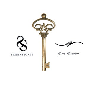 Image of Official Hans Haveron Tattoo Skeleton Key Pendant - Medium Bronze