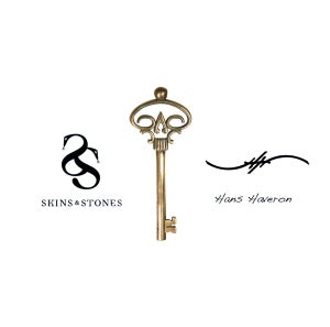 Image of Official Hans Haveron Tattoo Skeleton Key Pendant - Mini Bronze