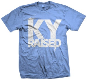 Image of KY Raised in Light Blue & White
