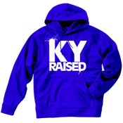 Image of KY Raised Blue / White Hooded Sweatshirt