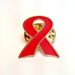 Image of Cloisonne Red Ribbon Lapel Pin