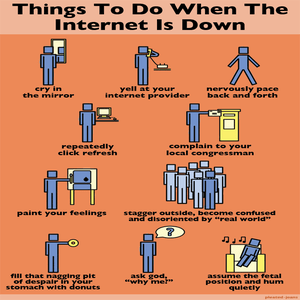 Image of Poster: Things to Do When the Internet is Down