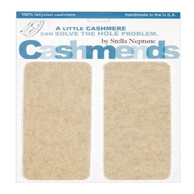 Image of Iron-on Cashmere Elbow Patches  - OATMEAL