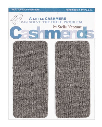 Image of Iron-on Cashmere Elbow Patches  - Medium Grey