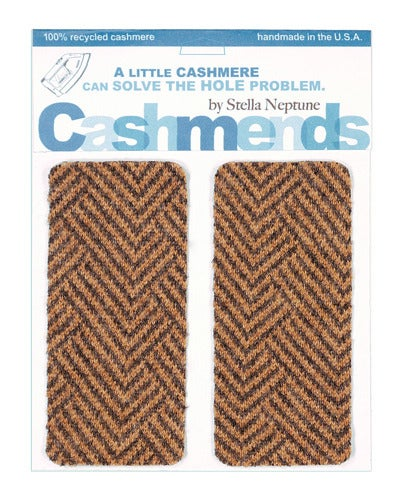 Image of   Iron-On Cashmere Elbow Patches -Tweed Pattern - Limited Edition!
