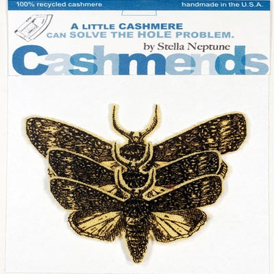 Image of Iron-on Cashmere Moths - Pale Yellow