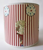 Image of 8inch Red & White Striped Balloon Girl Light Shade