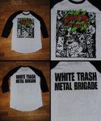 Image of White Trash Metal Brigade baseball jersey