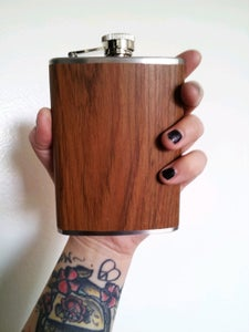 Image of Wood Grain Flask