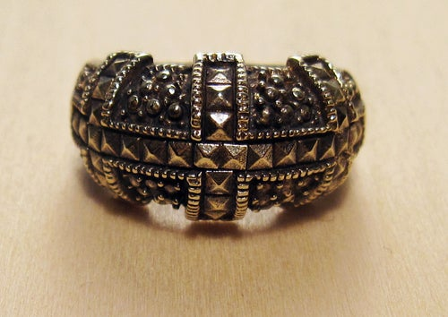 Image of DOMED BLING ring
