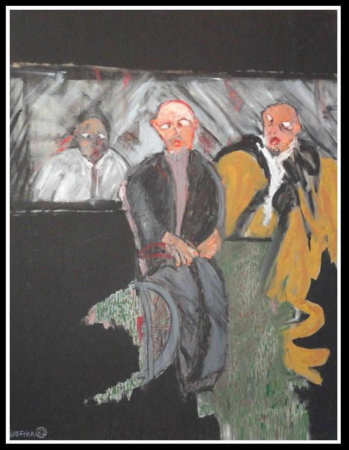 Image of Original Expressionist Painting by Michael Hafftka - Three Associates