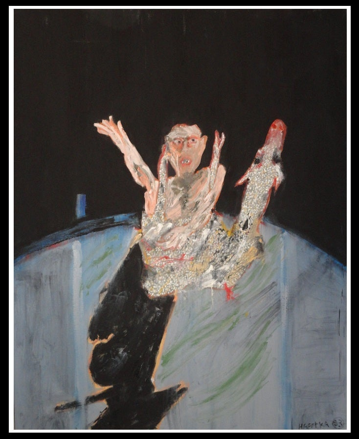 Image of Original Expressionist Painting by Michael Hafftka - Slung