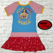 Image of **SOLD OUT** Wonder Woman It's a Girls World Dress - Size 8/9/10