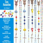 Image of Toy Rosaries, Car, Plane, Firetruck, Crayon, Rubber Ducky