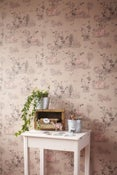 Image of Woodlands Wallpaper Brown Pink