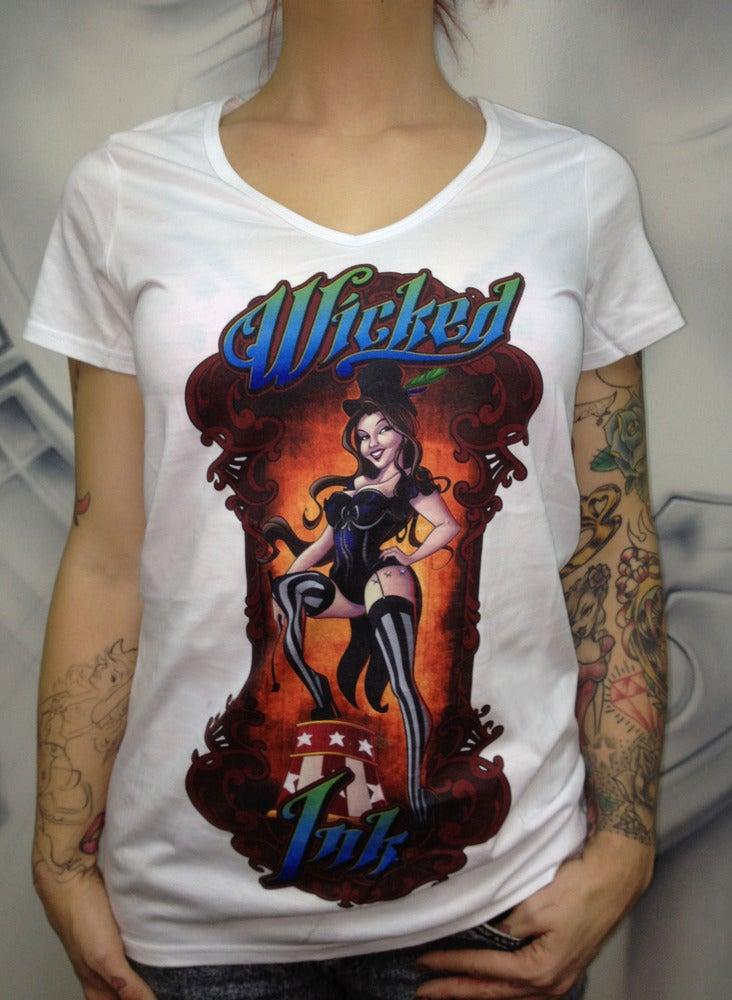 Image of Ladies White Ringmaster T-Shirt