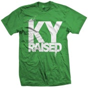 Image of KY Raised in Kelly Green & White