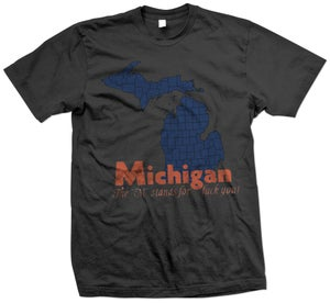 """Image of Michigan """"The M stands for..."""""""