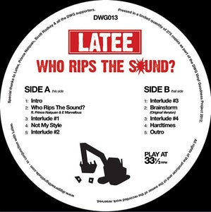 Image of DWG013: Latee 'Who Rips The Sound?' E.P. (black vinyl)