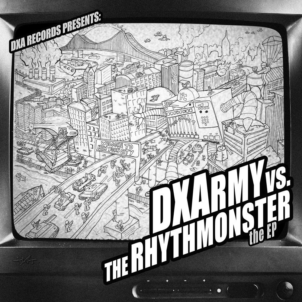 """Image of DXA - DXA vs The Rhythmonster EP // 12"""""""