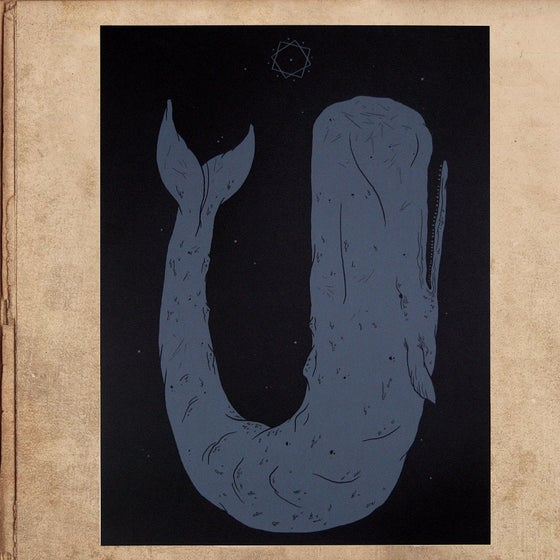 Image of Moby Dick silkscreened poster 18x24 - limited to 50