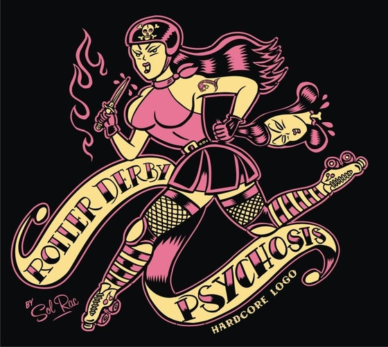 Image of Roller Derby Psychosis Ladies T-Shirt
