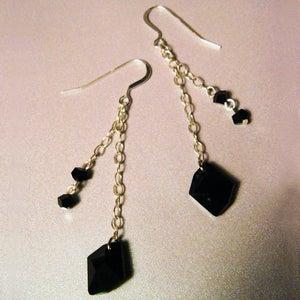 Image of Black Velvet Earrings