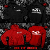 Image of LBB Zip Up Hoodie (black or red)