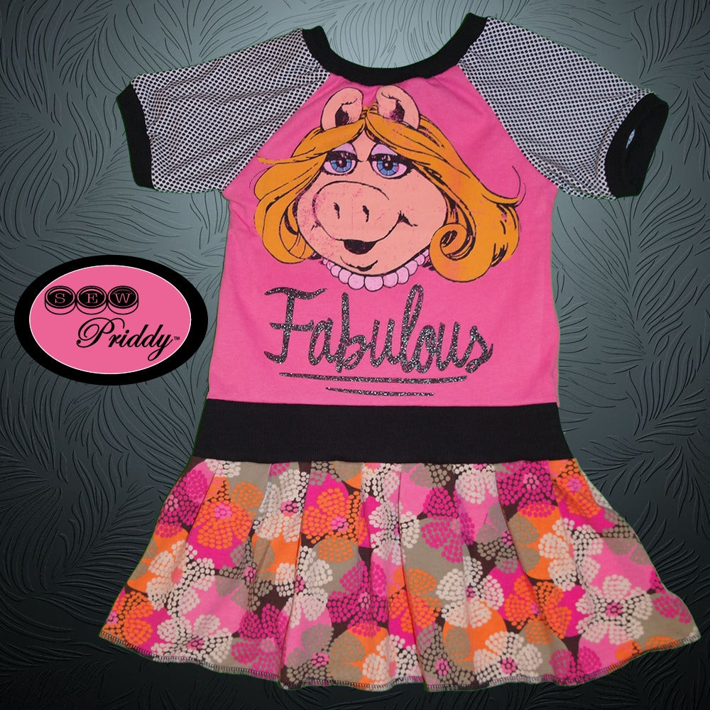 SOLD OUT** Miss Piggy Fabulous The Muppets Dress - Size 5T/6