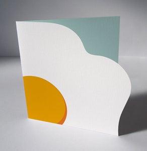 Image of Printable Fried Egg Easter Card