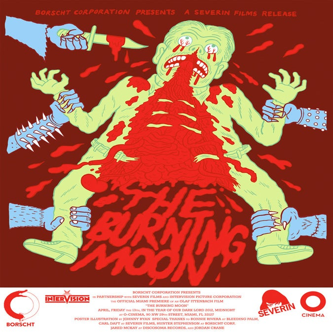 Image of The Burning Moon - Limited Edition Screen Print by Johnny Ryan