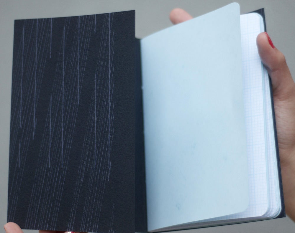 Image of letterpress scribble book