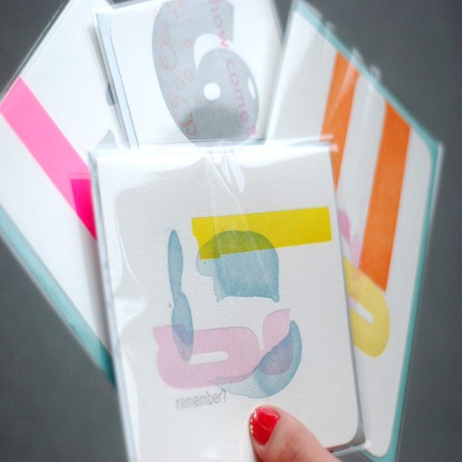 Image of letterpress card set