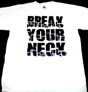 Image of Break Your Neck White/Black Mens T-shirt