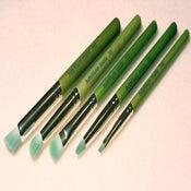 """Image of Green Bamboo 5pc """"Smokey Eye"""" Brush Kit"""