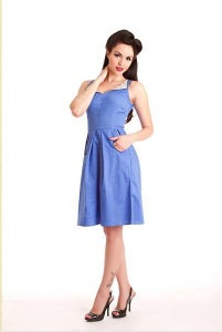 Image of Steady Clothing: Blue Loop Pocket Sun dress