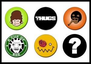 Image of Les Thugs Button Set: Series 1