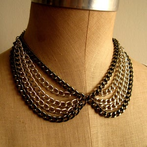 Image of Peter Pan Layered Collar Necklace