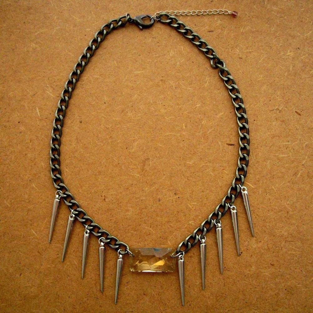 Image of Swarovski Crystal Spike Collar Necklace