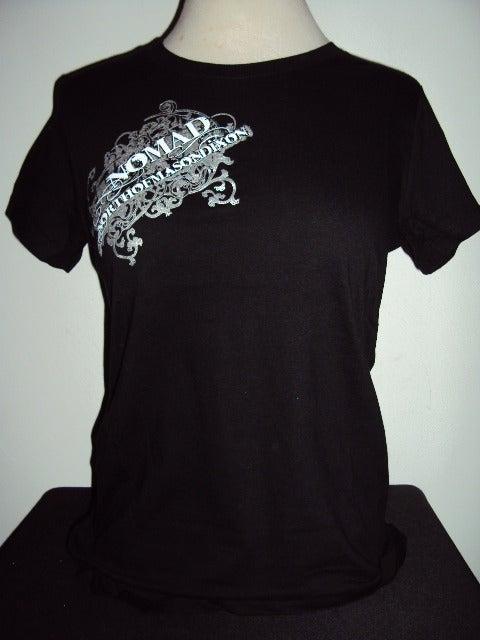 Image of NOMaD Ladies INKed Logo Black T-Shirt