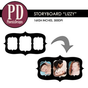 """Image of Storyboard """"Lizzy"""" - 16x24/8x12"""
